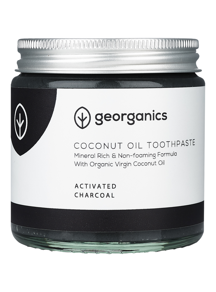 GEORGANICS NATURAL MINERAL-RICH TOOTHPASTE ACTIVATED CHARCOAL 60ML