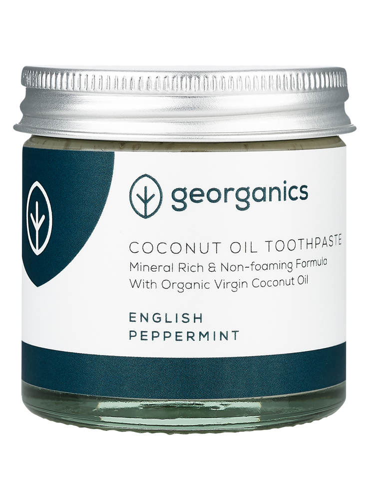 GEORGANICS NATURAL MINERAL-RICH TOOTHPASTE ENGLISH PEPPERMINT 60ML