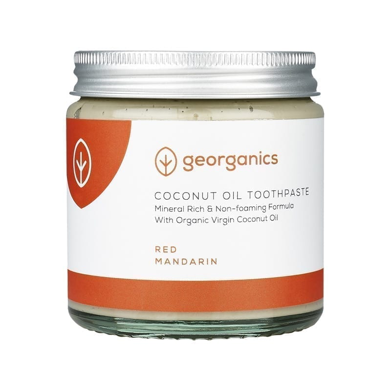 GEORGANICS NATURAL MINERAL-RICH TOOTHPASTE RED MANDARIN 120ML