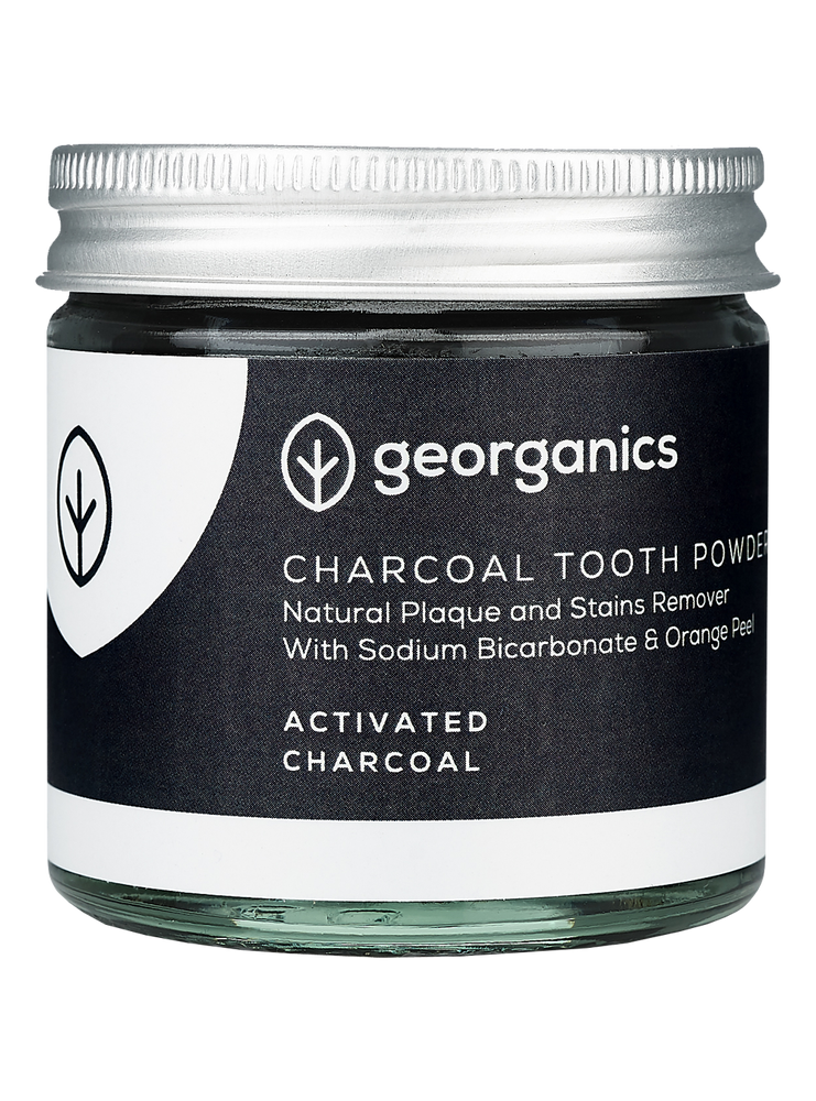 GEORGANICS NATURAL TOOTHPOWDER ACTIVATED CHARCOAL 60ML