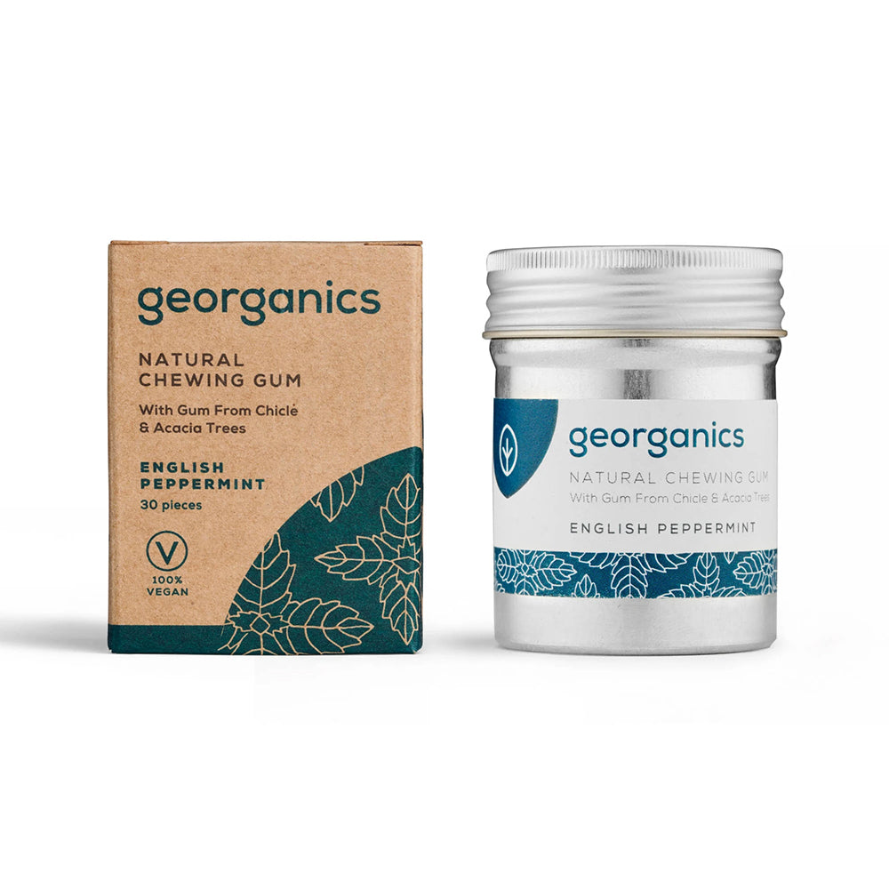 GEORGANICS NATURAL CHEWING GUM – ENGLISH PEPPERMINT 30GUMS