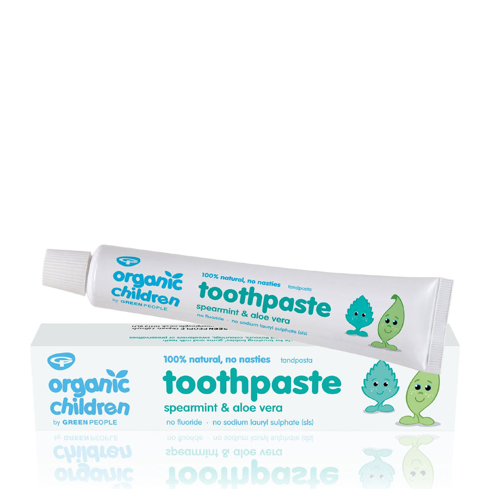 GREEN PEOPLE ORGANIC CHILDREN'S TOOTHPASTE – SPEARMINT & ALOE VERA