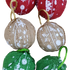 Jute Printed Baubles - A Box of 6 Baubles.