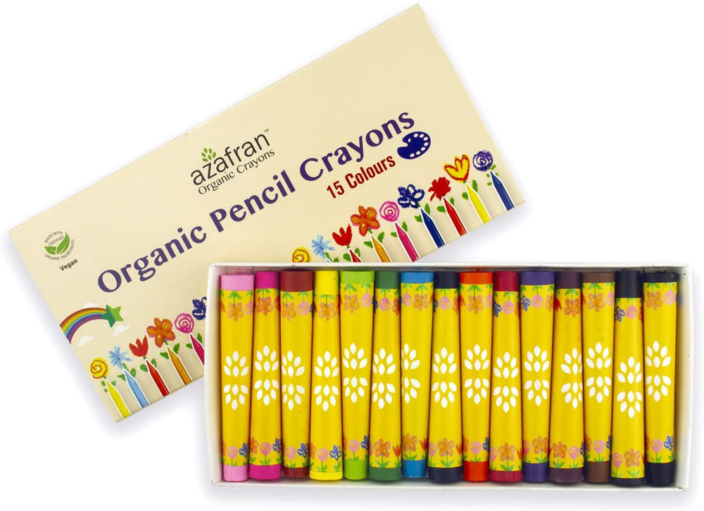 ORGANIC NATURAL VEGAN PENCIL CRAYONSN- 15 COLOURS