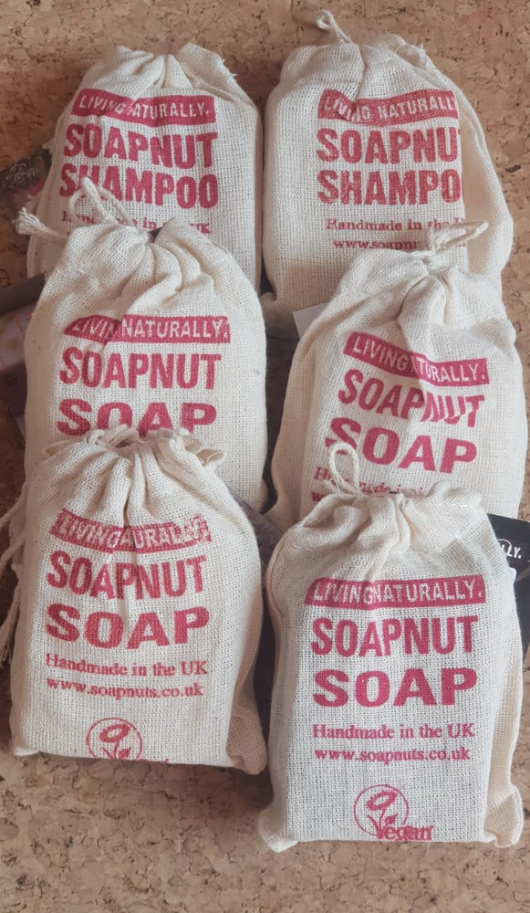 Living Naturally Soapnut Soap Bar and Shampoo Bar Mix