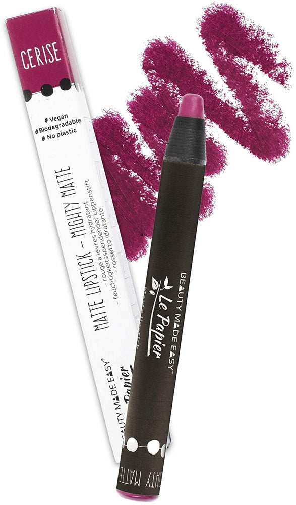 Beauty Made Easy Le Papier Matte lipstick - Mighty Matte CERISE