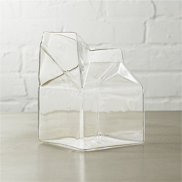 Lil' Half Pint Milk Carton Shaped Glass