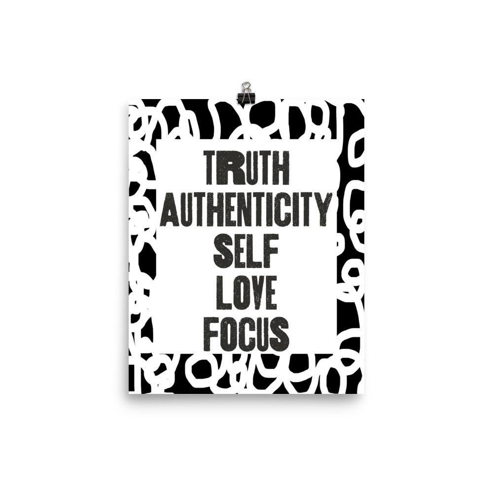 Truth Authenticity Poster (White & Black Squiggles)
