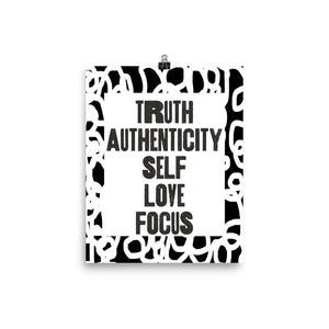 Open image in slideshow, Truth Authenticity Poster (White & Black Squiggles)