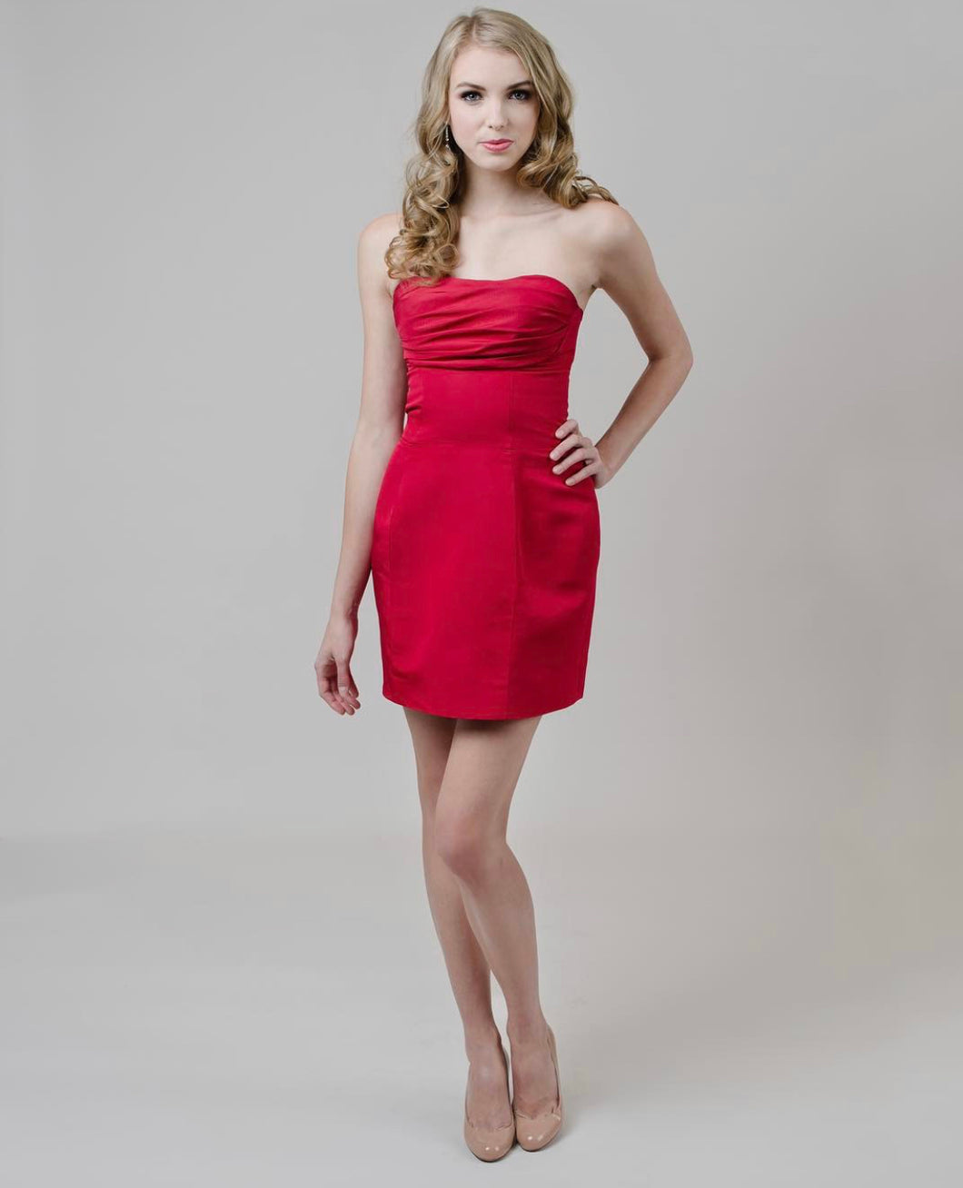 Lipstick Red Cocktail Dress