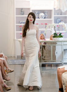 Architectural Silk Faille Gown