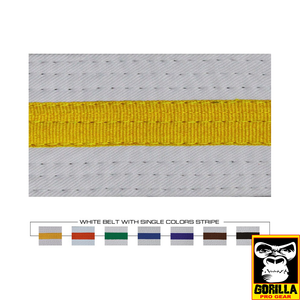 WHITE BELT WITH COLOR STRIPES