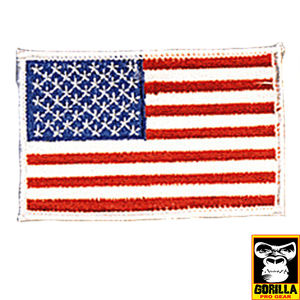 USA-WHITE BORDER PATCH