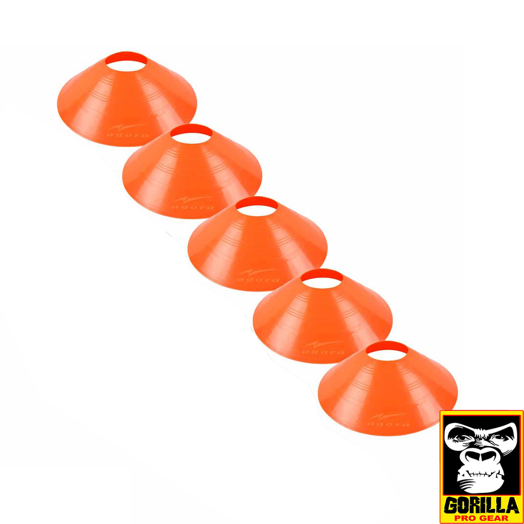 5 LARGE SAUCER CONES ORANGE