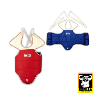 TKD REVERSABLE CHEST GUARD IN BLUE AND RED