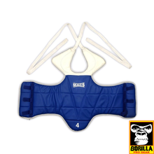 Load image into Gallery viewer, TKD REVERSABLE CHEST GUARD IN BLUE AND RED
