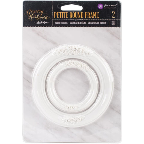 Prima Marketing Memory Hardware Resin Frames 2/Pkg Petite Round