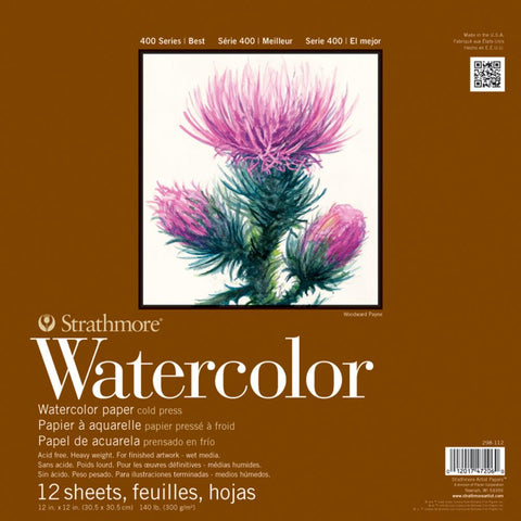"Strathmore Watercolor Paper Pad 12""X12"""