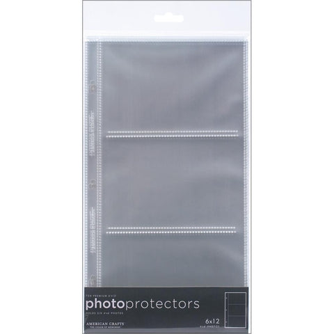 "American Crafts Page Protectors Side-Loading 6""X12"" 10/Pkg"