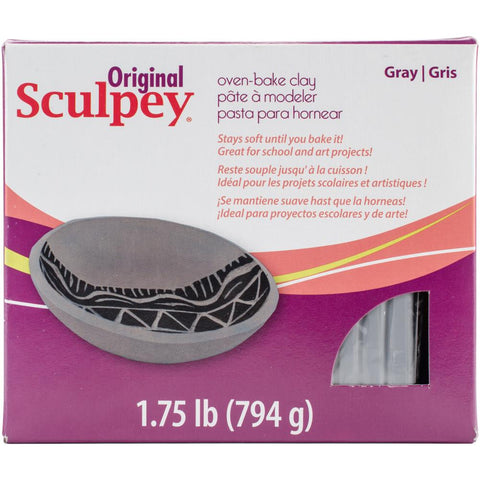 Sculpey Original Polymer Clay 1.75lb Gray