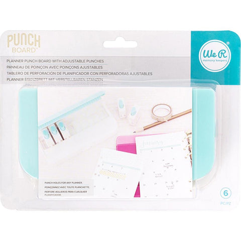 We R Planner Punch Board W/Standard Hole Punches 6/Pkg