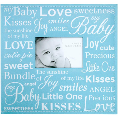 "MBI Expressions Post Bound Album W/Window 12""X12"" Baby - Blue"