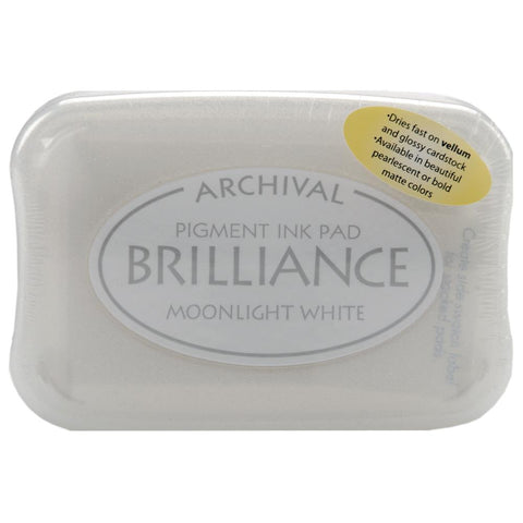 Brilliance Pigment Ink Pad Moonlight White