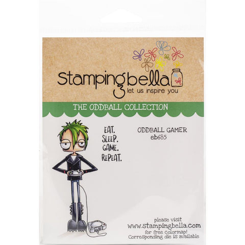 Stamping Bella Cling Stamps Oddball Gamer