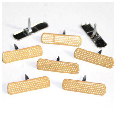 Eyelet Outlet Shape Brads 12/Pkg Bandaid