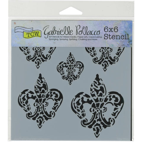 "Crafter's Workshop Template 6""X6"" Baroque Fleurs"