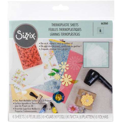 "Sizzix Thermoplastic Sheets 6""X6"" 6/Pkg"