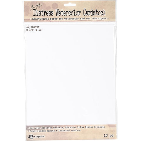 "Tim Holtz Distress Watercolor Cardstock 10/Pkg 8.5""X11"""