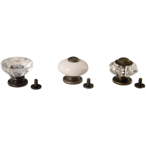 "Idea-Ology Curio Knobs 1""X.875"" 3/Pkg"