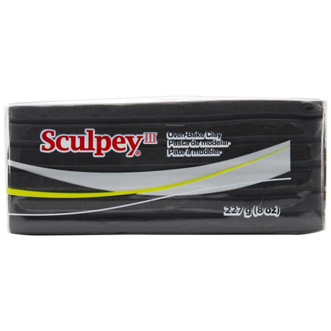 Sculpey III Polymer Clay 8oz Black