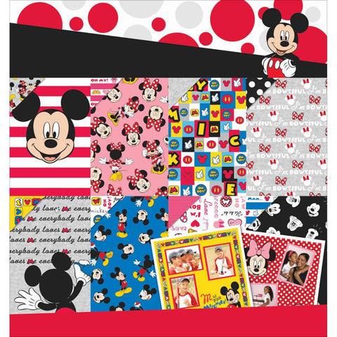 "EK Disney Paper Pad 12""X12"" 36/Pkg Mickey & Friends 12 Designs/3ea"