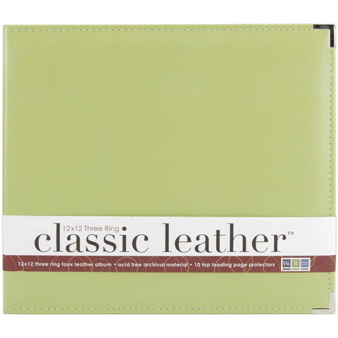 "We R Classic Leather D-Ring Album 12""X12"" Kiwi"