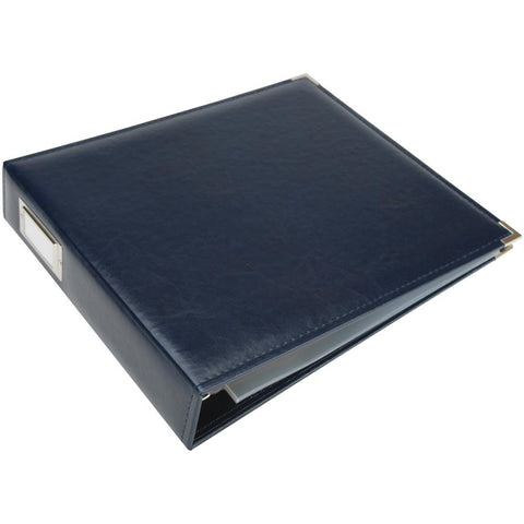 "We R Classic Leather D-Ring Album 12""X12"" Navy"