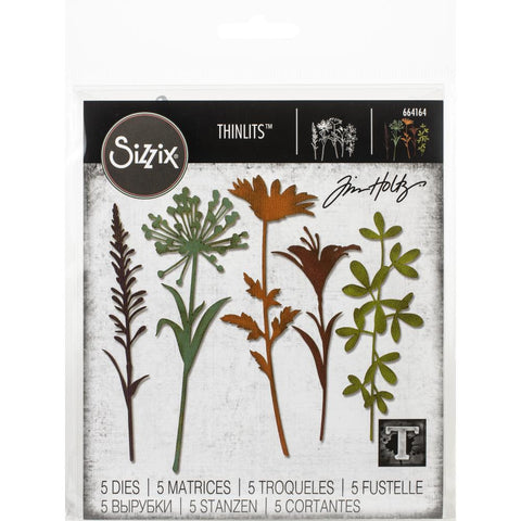 Sizzix Thinlits Dies By Tim Holtz Wildflower Stems #2