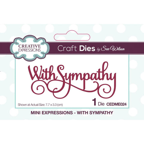 Mini expressions - With Sympathy