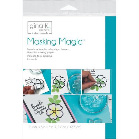 "Gina K Designs Masking Magic Sheets 5""X7"" 12/Pkg"