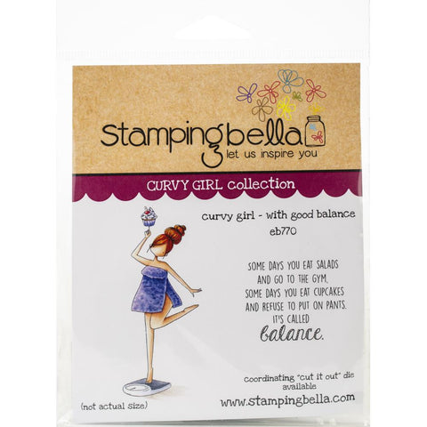 Stamping Bella Cling Stamps Curvy Girl With Good Balance
