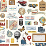 "Photoplay, HERE & THERE - Stickers 12""X12"" elements"