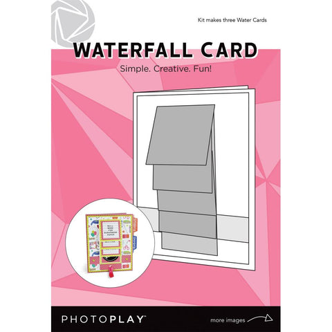 Photoplay Waterfall Card 3/Pkg Makes 3