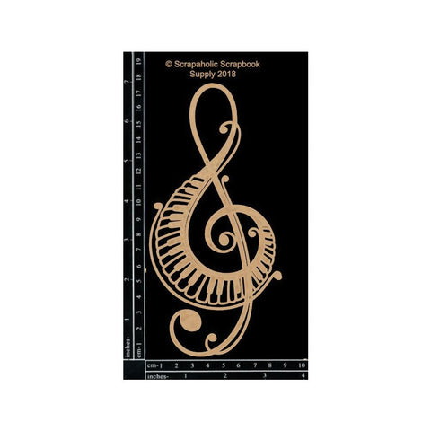 Scrapaholics Laser Cut Chipboard 1.8mm Thick - Piano Treble Clef