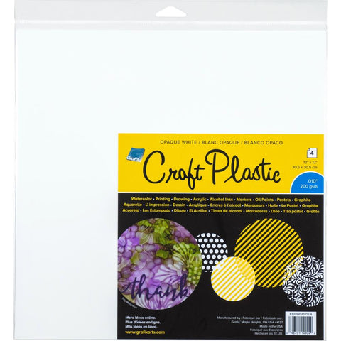 "Grafix Craft Plastic Sheets 12""X12"" 4/Pkg"