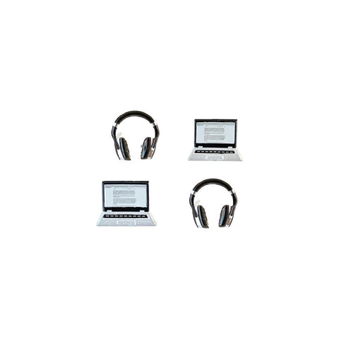 Eyelet Outlet Shape Brads 12/Pkg Laptop & Headphone