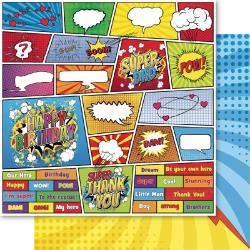"Superhero Double-Sided Cardstock 12""X12"" - Jigsaw"