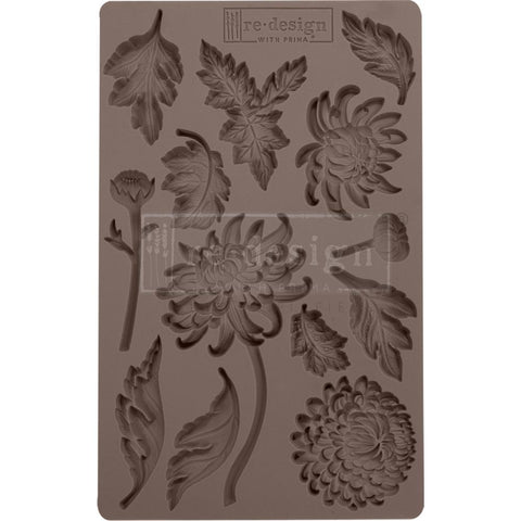 "Prima Marketing Re-Design Mould 5""X8""X8mm Botanist Floral"