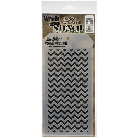 "Tim Holtz Layered Stencil 4.125""X8.5"" Shifter Chevron"