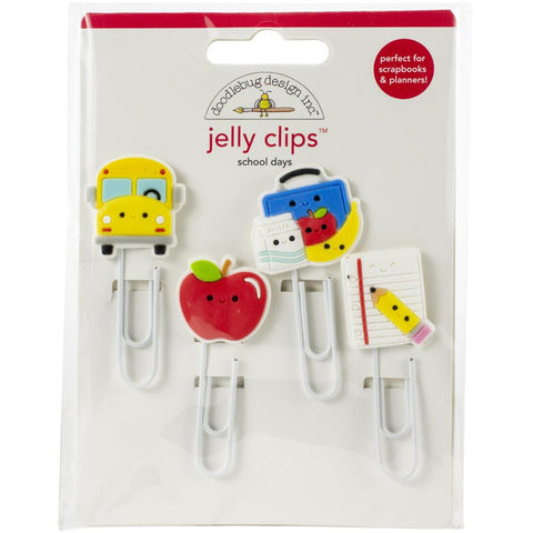 Doodlebug, School Days - Jelly Clips 4/Pkg